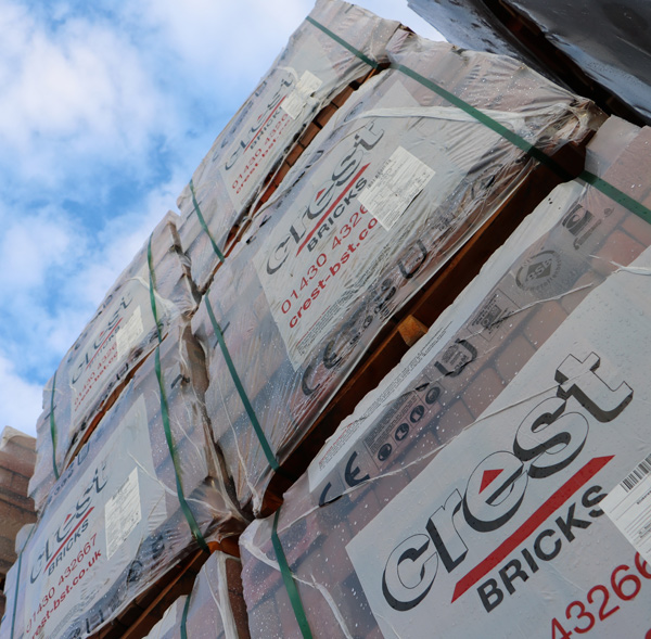 Crest Building Products - Bricks in yard