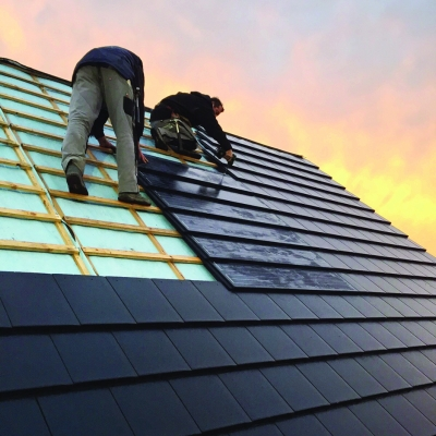 Solinso Solar tiles are easy to fit